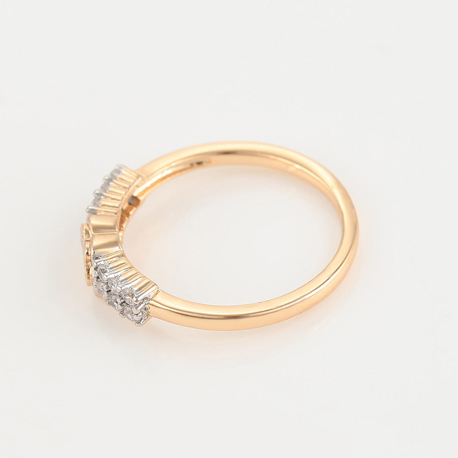 Elegant Gold Plated Cubic Zirconia Ring