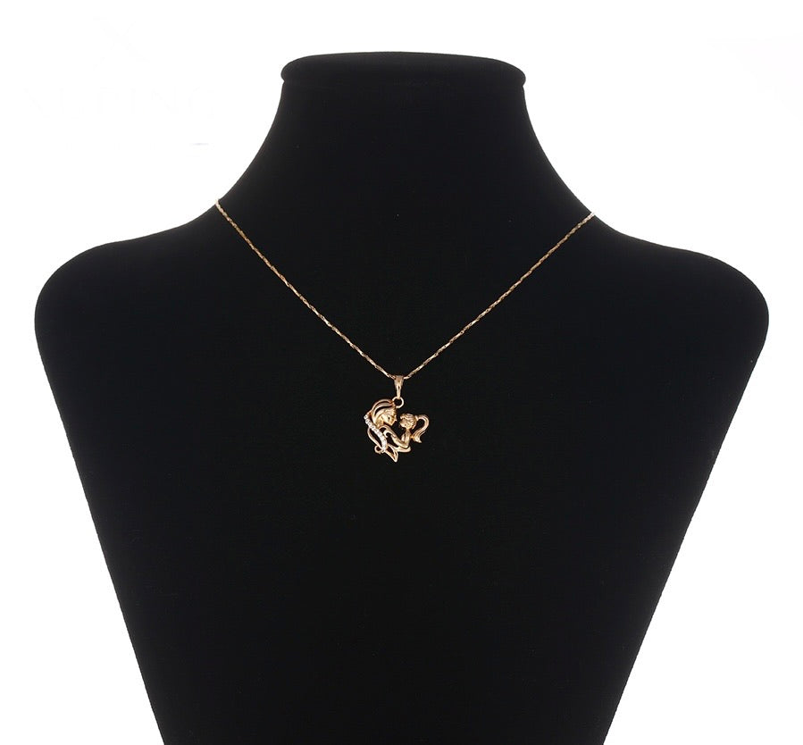 18K Gold Plated Mother Necklace