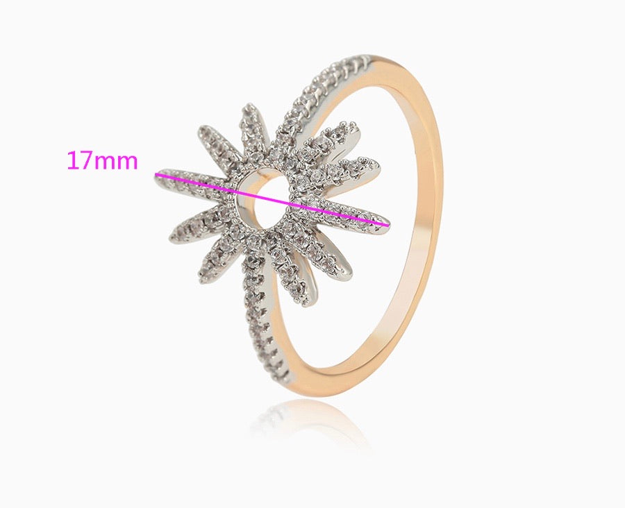 14k Gold Plated Diamond Ring
