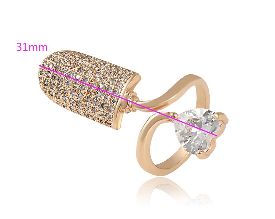 14K Gold Plated Fashion Nail Ring