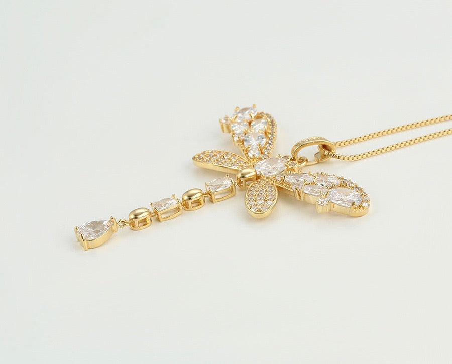 14K Gold Plated Butterfly Necklace