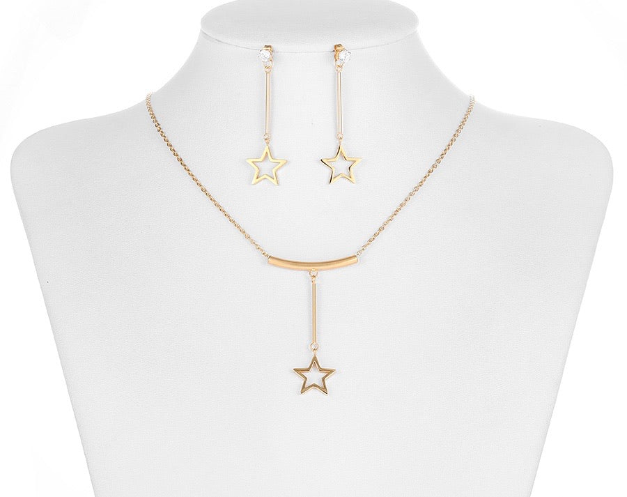 24K Gold Plated Star Set