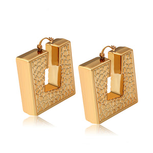 18K gold Plated New Design Puff Earring