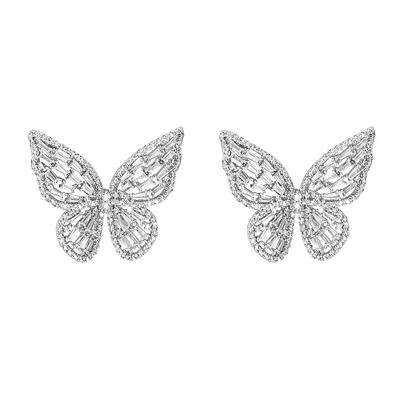 Silver Plated Butterfly Earring