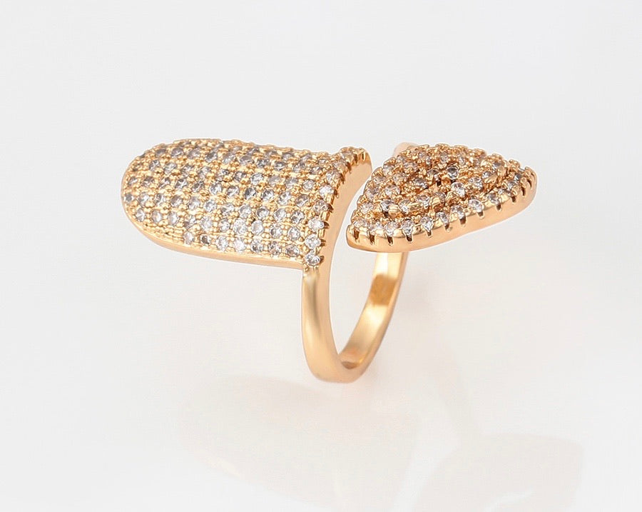 18K Gold Plated Nail Ring