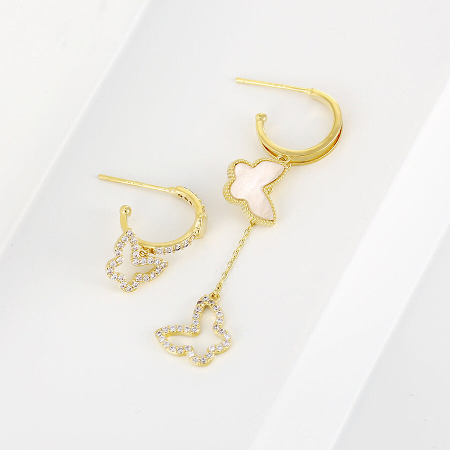 Elegant Design Diamond Butterfly Earring
