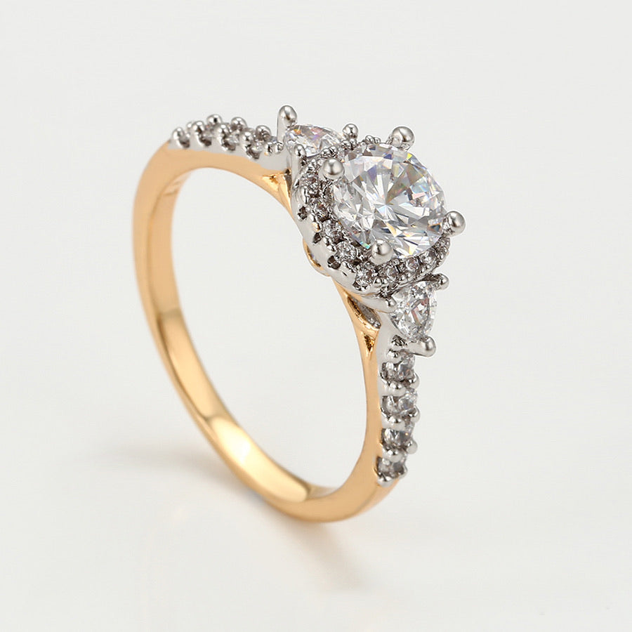 Gold Plated Cz Diamond Multicolor Ring