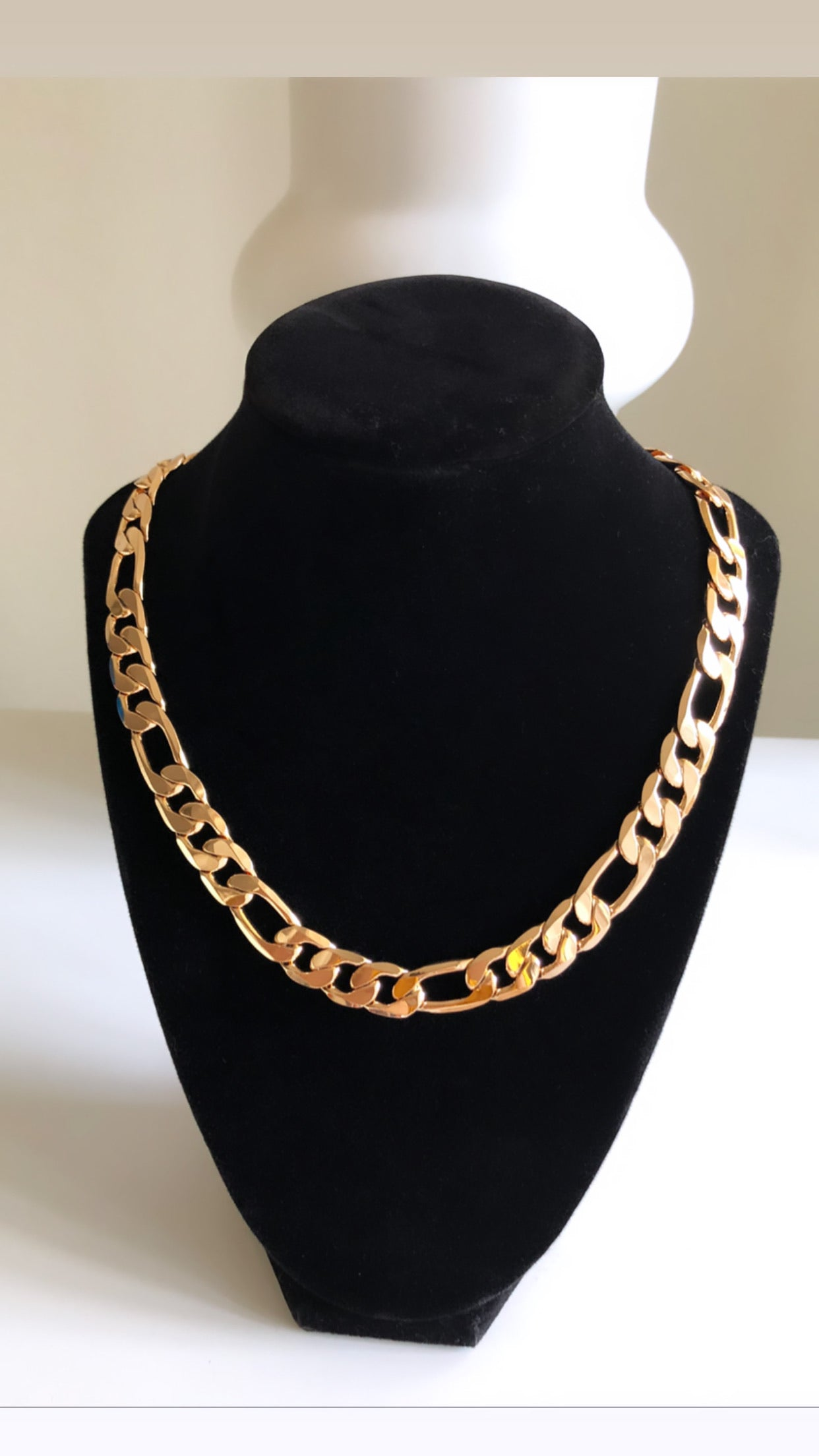 18K Gold Plated Figaro Chain Necklace