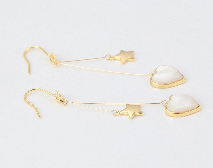 14K Gold Plated Heart Earring