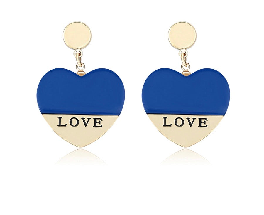 14k Gold Plated Love Earring