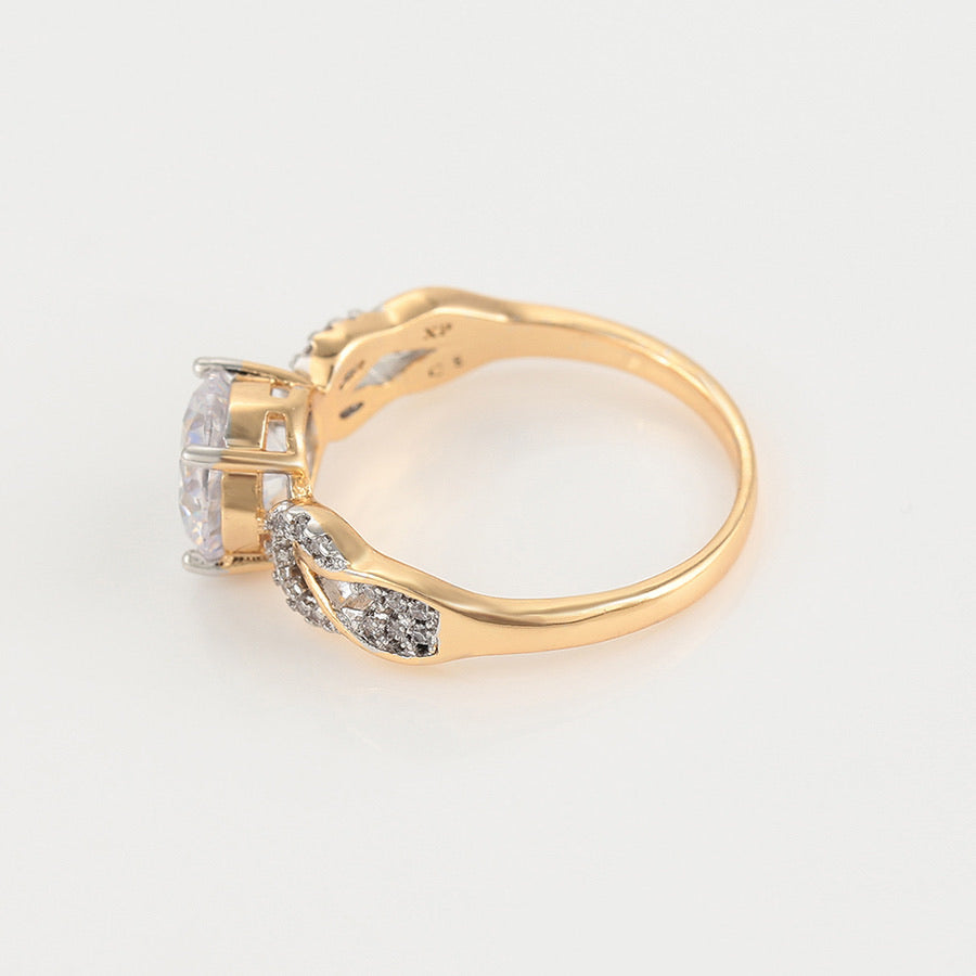 Beautiful Gold Plated Full Cz Diamond Ring