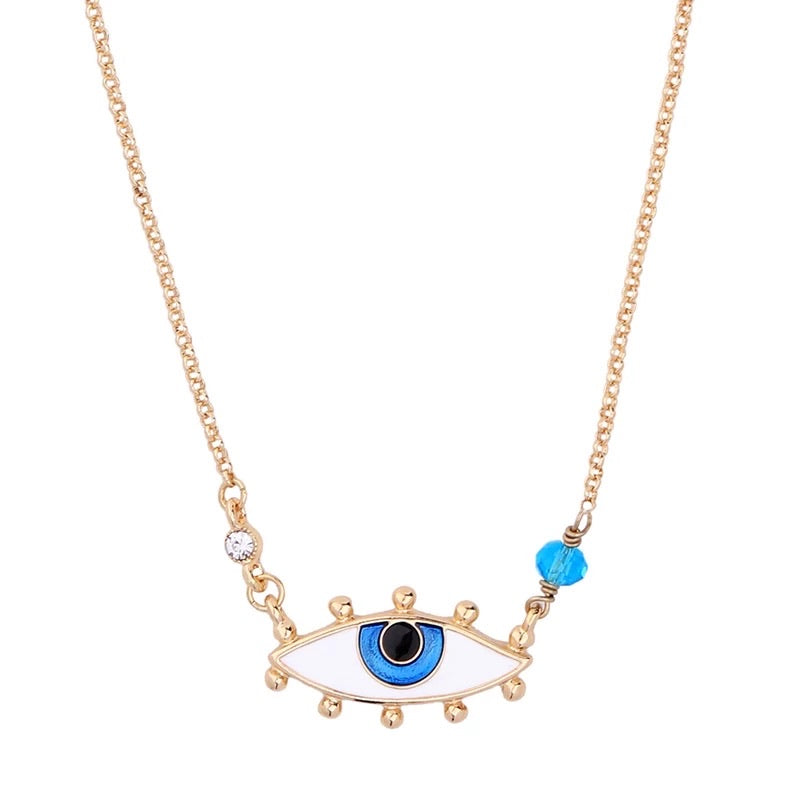 Emma Evil Eye Neclace&Earrings