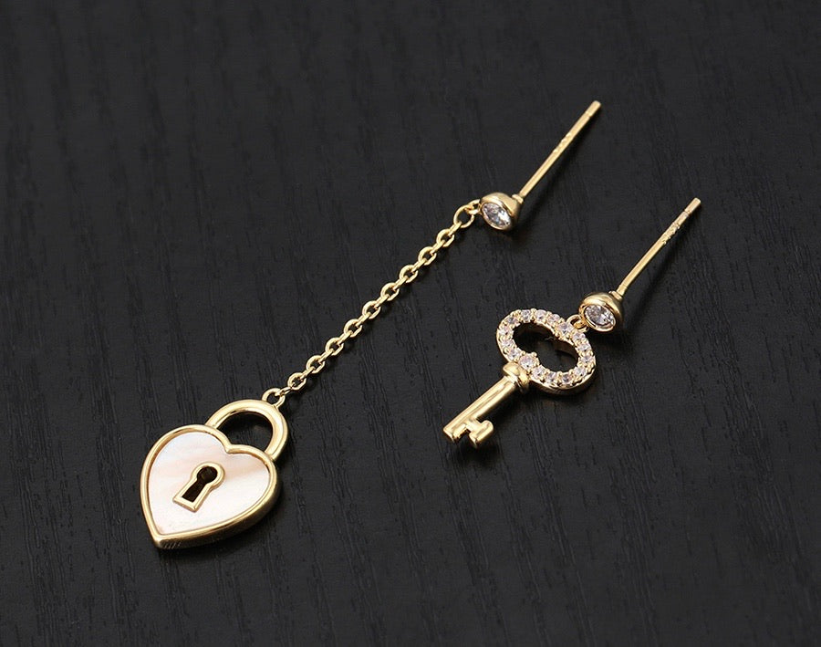 14K Gold Plated Fashion Heart Earring