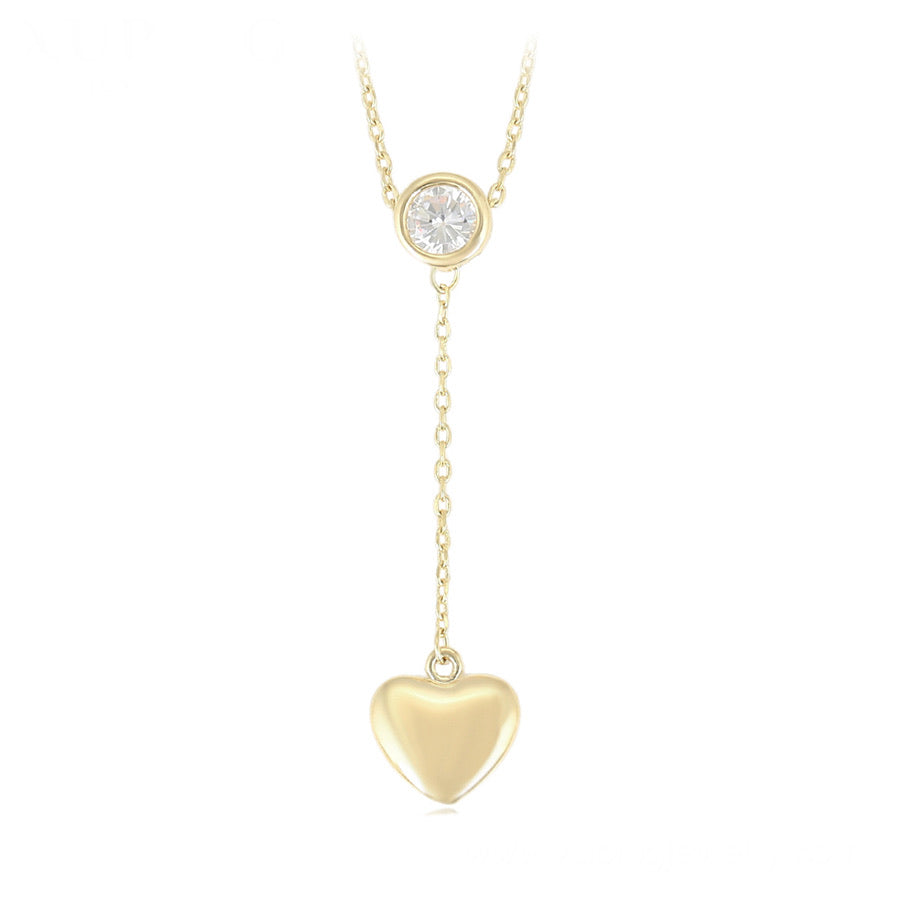14K Gold Plated Simple Heart Necklace