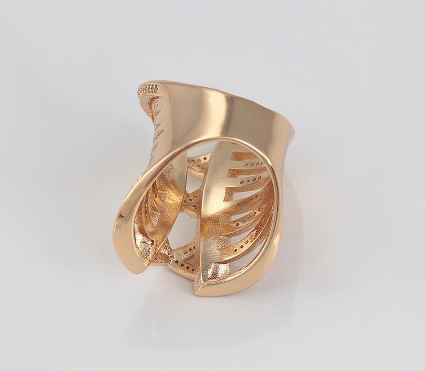 18K Gold Plated Unique Design Ring