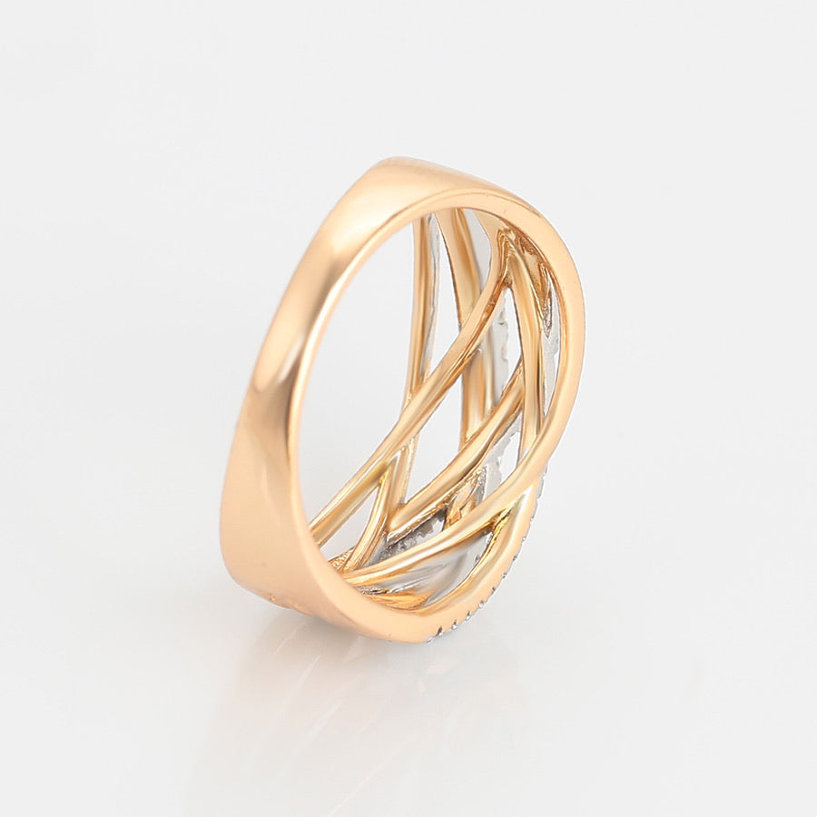 Gold Plated Multicolor Diamond Ring
