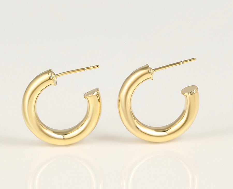 14K Gold Plated Hoop Earring