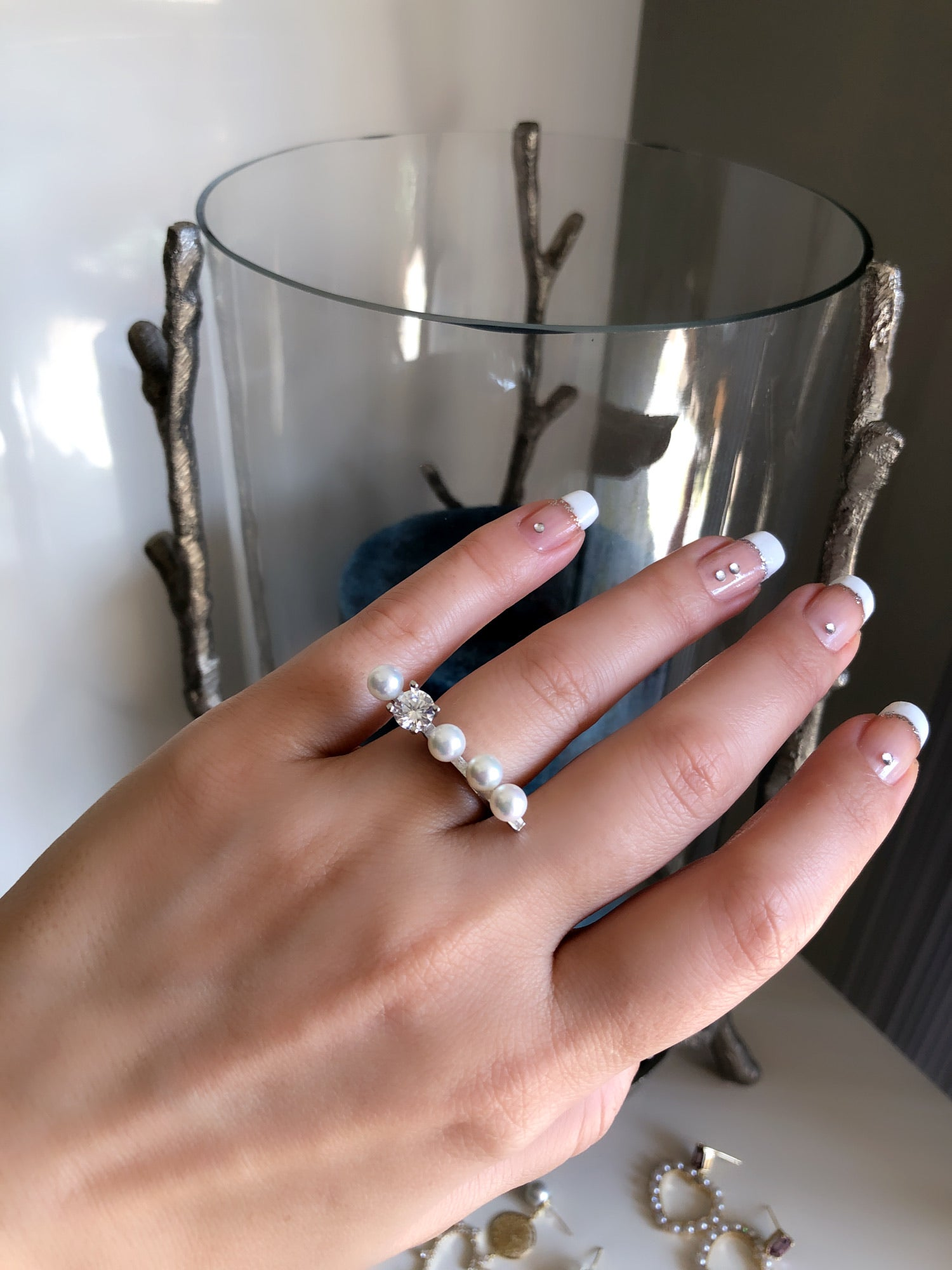 Unique Handmade Pearl Ring