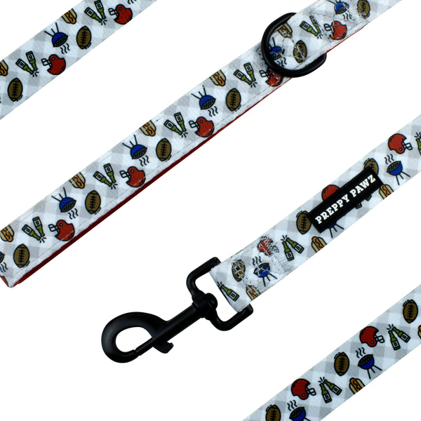 Printed Matching Dog Leash for Tailgates