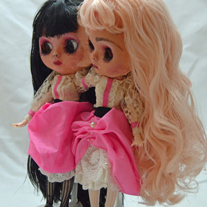(#24 & 25) 75 Apples Art- Neo Blythe Doll Twins Conjoined Silicone OOAK- BLYTHE Doll Custom TBL