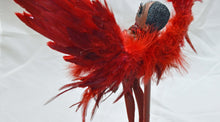 Load image into Gallery viewer, (#22) 75 Apples Art Doll - Customized Feather Vinyl Vladonna Red Crystals OOAK Kidrobot