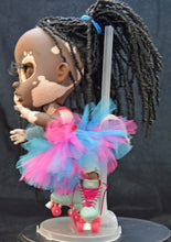 Load image into Gallery viewer, (#9) 75 Apples Art- Resin BJD Vitiligo African American Doll OOAK