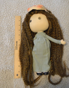 (#8) 75 Apples Art- Large Cloth Doll w/ Blythe/ ICY Mask OOAK
