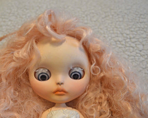 (#21) 75 Apples Art- Neo Blythe Fashion Spring Joy Albino Baby OOAK- BLYTHE Doll Custom TBL