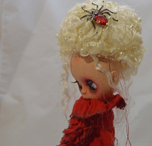 (#19) 75 Apples Art- Neo Blythe Fashion Red Doll OOAK- BLYTHE Doll Custom TBL