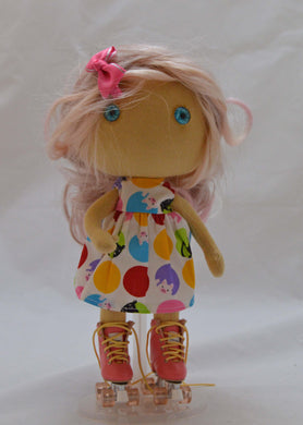 (#7) 75 Apples Art- Small Cloth Doll OOAK