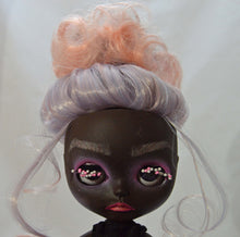 Load image into Gallery viewer, (#30) 75 Apples Art- Neo Blythe Fashion Doll Dots Dark Skin Baby OOAK -BLYTHE Doll Custom TBL