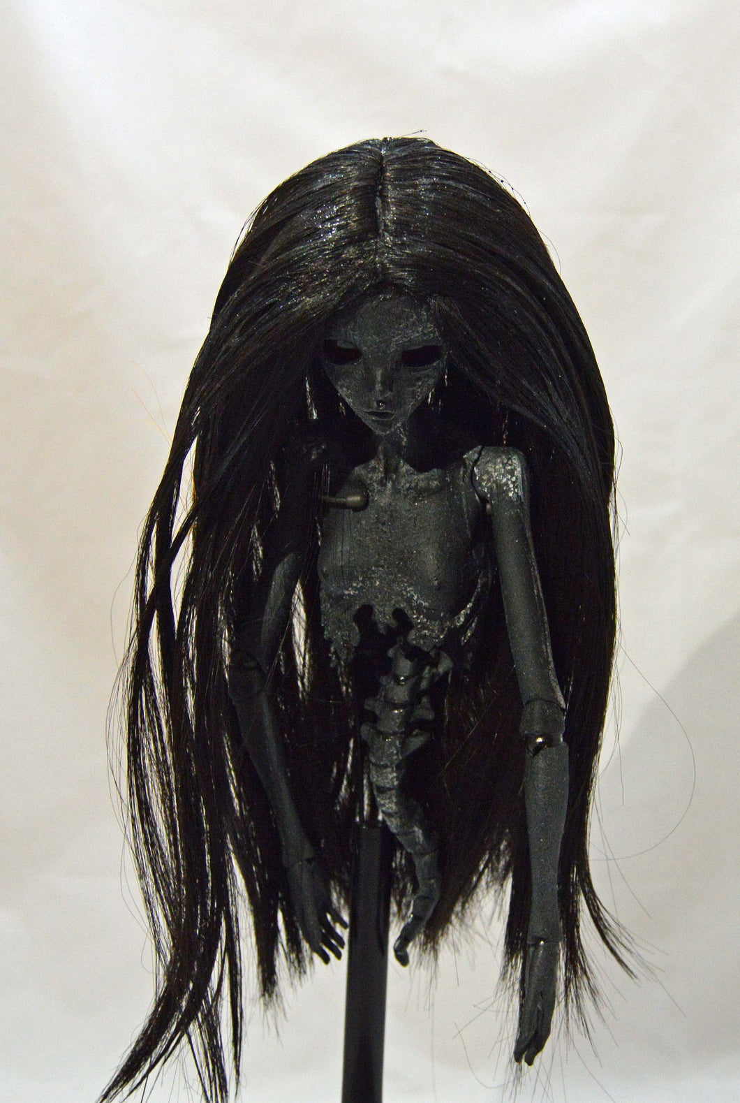 (#23) 75 Apples Art- Resin black BJD Customized Shadow People OOAK