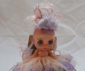 (#11) 75 Apples Art- Resin BJD Doll fairy Morpho Wings l OOAK