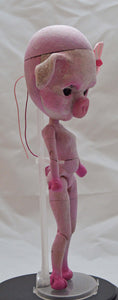 (#17) 75 Apples Art- Neo Blythe Pig OOAK- BLYTHE Doll Custom TBL NOTE: Defect Eye Mech