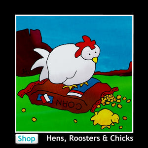 Chickens, Hens, Roosters, and Chicks