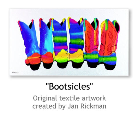 Colorful Western Cowboy Boots by Jan Rickman
