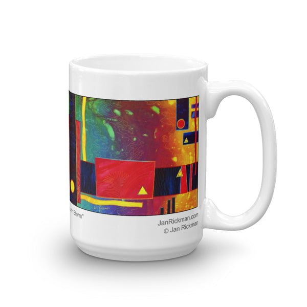 Autumn Abstract Mug - Jan Rickman