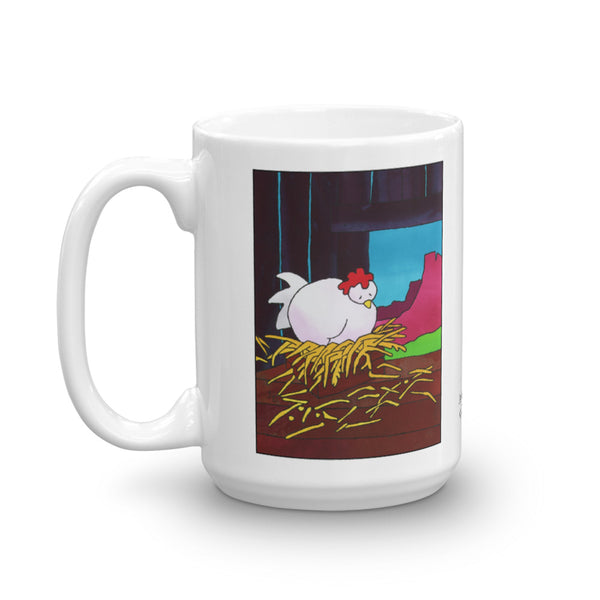 Snoozin Chicken on a coffee mug 15oz