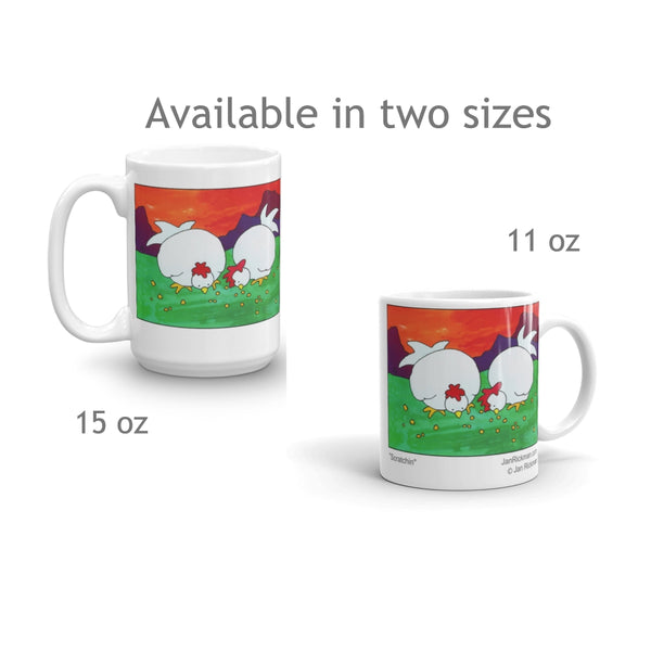Chicken Hen coffee mugs
