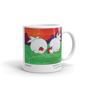 Chickens coffee mug design by Jan Rickman 11 oz