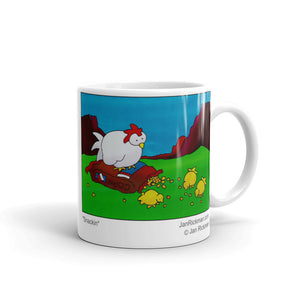 Chicks Pecking Away Mug - Jan Rickman