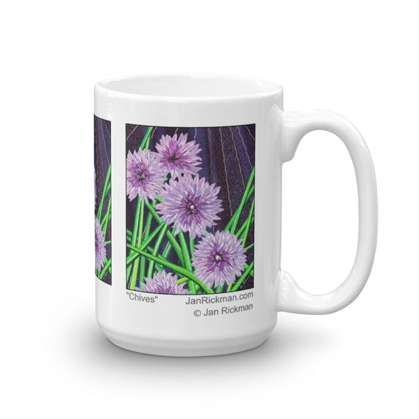 Chives Fine Art Coffee Mug by Jan-Rickman