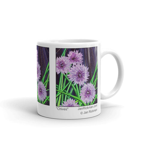 Blooming Chive Design Mug - Jan Rickman