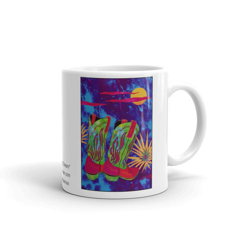 Western Theme Cowboy Boot design coffee mug by Jan Rickman