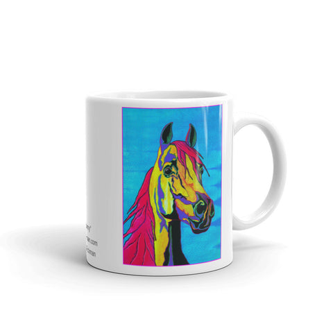 Colorful Stallion Mug - Jan Rickman