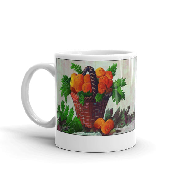Harvest Peach coffee mug by Jan Rickman