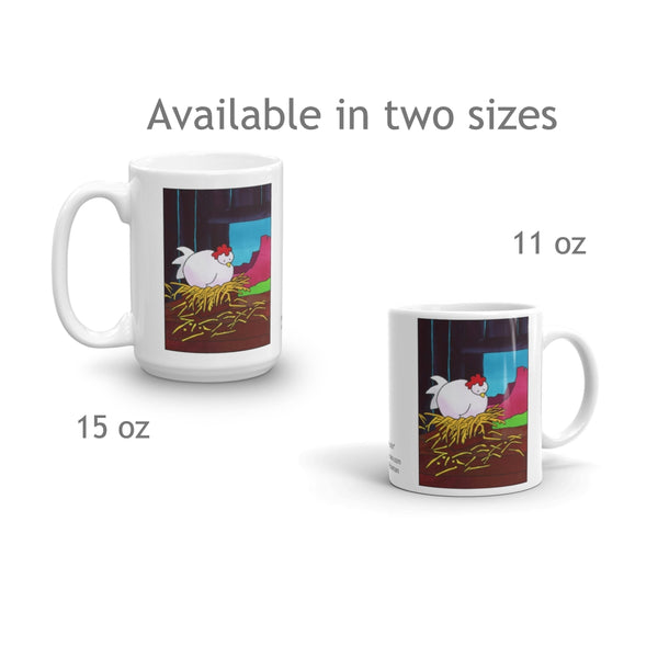 Hen Snoozing coffee mugs