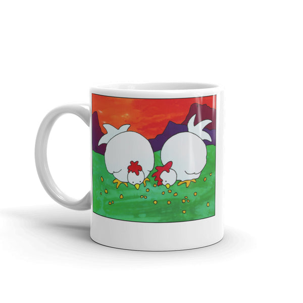 Hen on a coffee mug 11oz