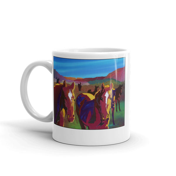 Western Horse Coffee Mug by Jan Rickman