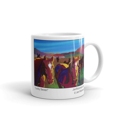 Lucky Seven Western Working Horse Mug - Jan Rickman